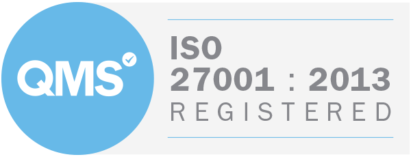 ISO 27001 : 2013 certified